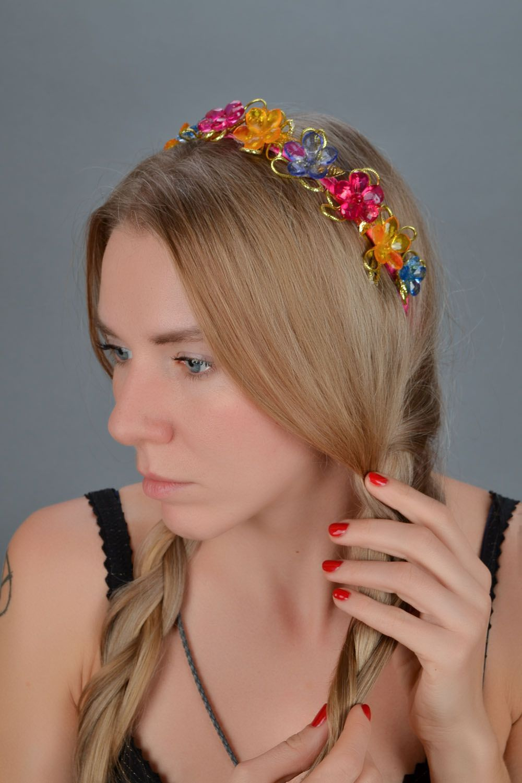 Homemade bright headband Roksolana photo 1