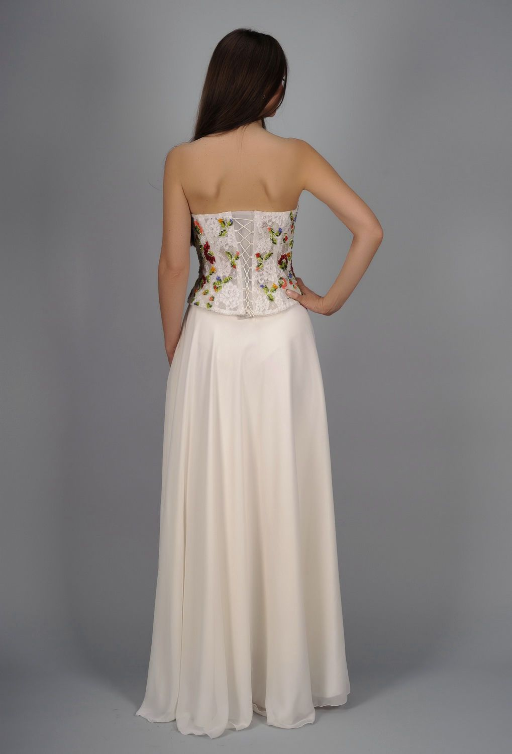 clothes Wedding ensemble, embroidered with beads - MADEheart.com