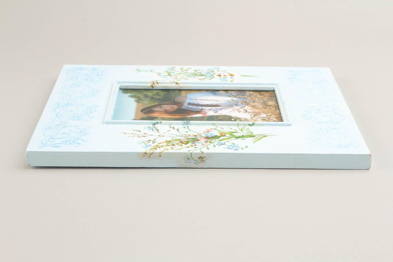 Wooden decoupage photoframe photo 3