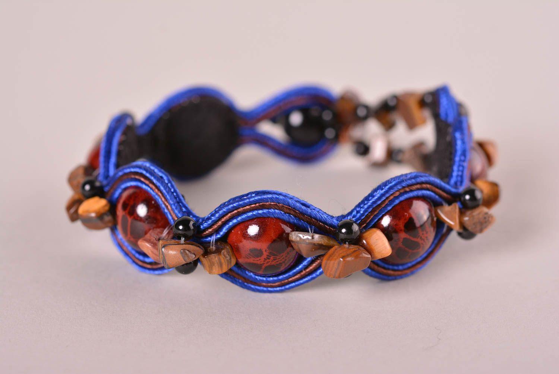 205ef3329456 pulseras textiles Pulsera hermosa de soutache estilosa bisutería artesanal  accesorio para mujer - MADEheart.com