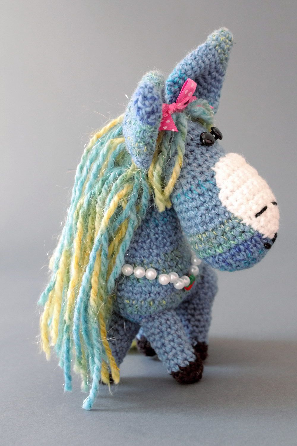 Soft toy Blue horse photo 3