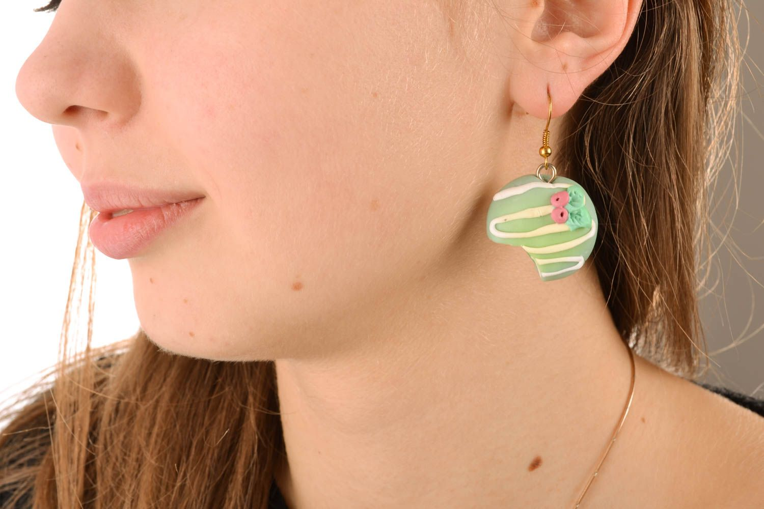 Plastic earrings with charms photo 5