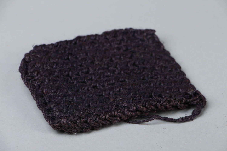 Crocheted jute body scrubber photo 2