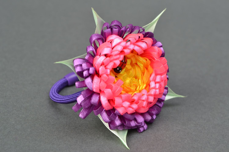 Satin ribbon hair tie Ladybug photo 3