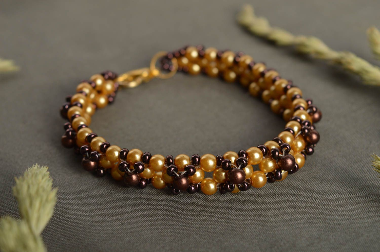 MADEHEART > Handmade stylish beaded bracelet unusual designer ...