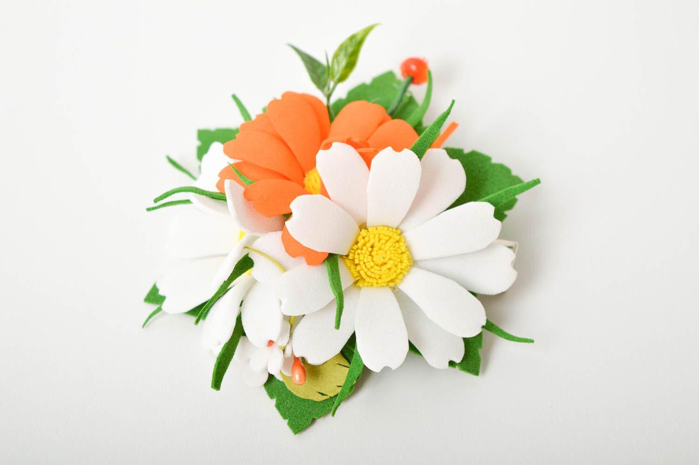 Handmade barrette foamiran hair clip flower hair accessories gift for women photo 3