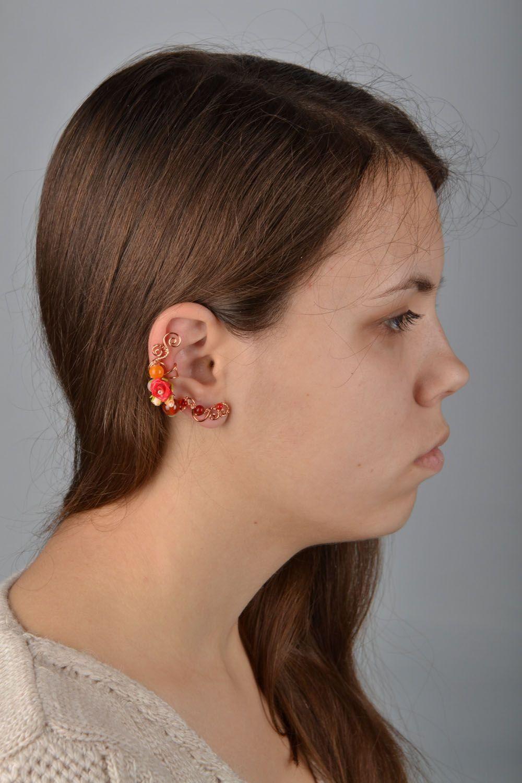 Wire wrap cuff earring photo 1