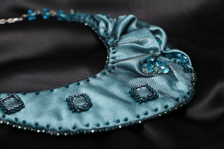 Handmade fabric necklace Rain Lover photo 2