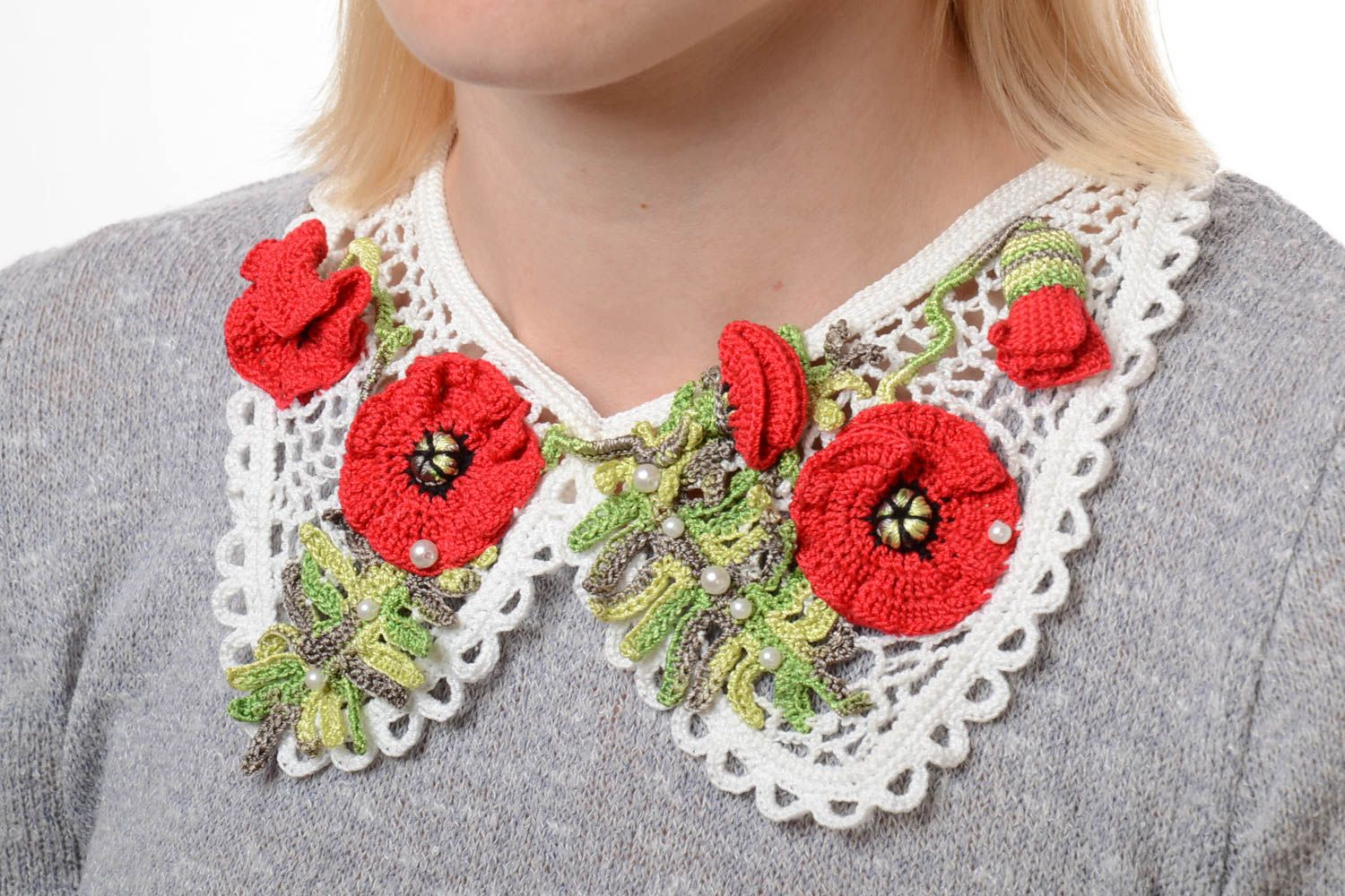 сollars Handmade collar necklace detachable collar fashion necklace designer jewelry  - MADEheart.com