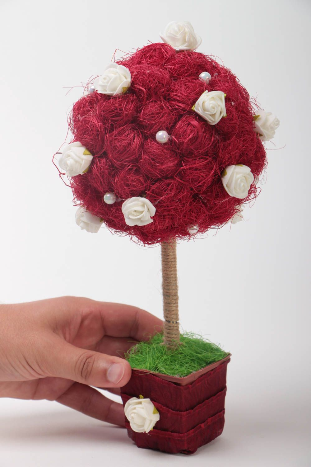 Unusual handcrafted topiary decorative tree of happiness home design gift ideas photo 5
