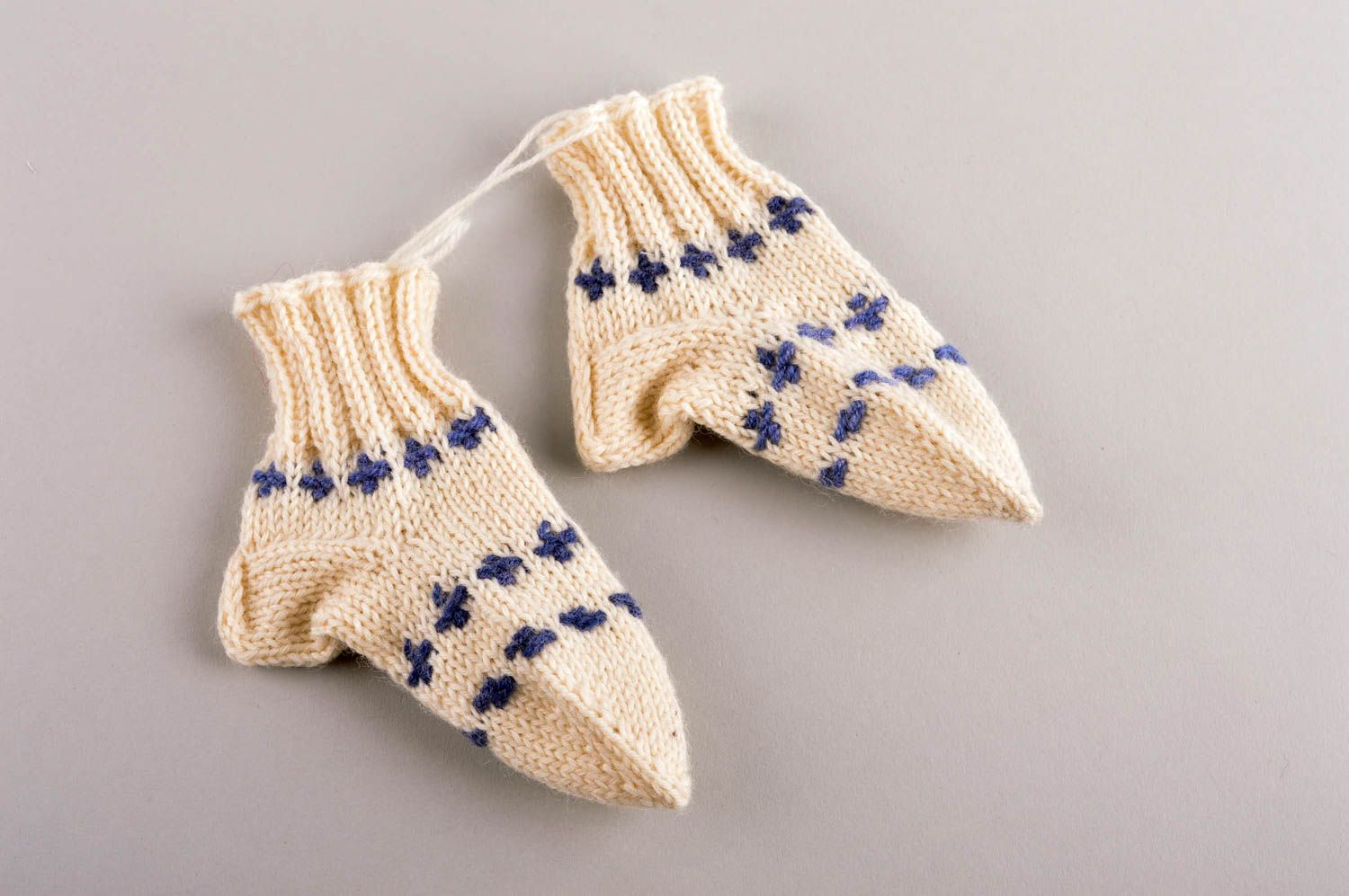 Beautiful handmade knitted socks childrens warm socks accessories for kids - MADEheart.com
