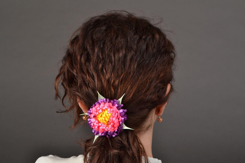 Satin ribbon hair tie Ladybug photo 2