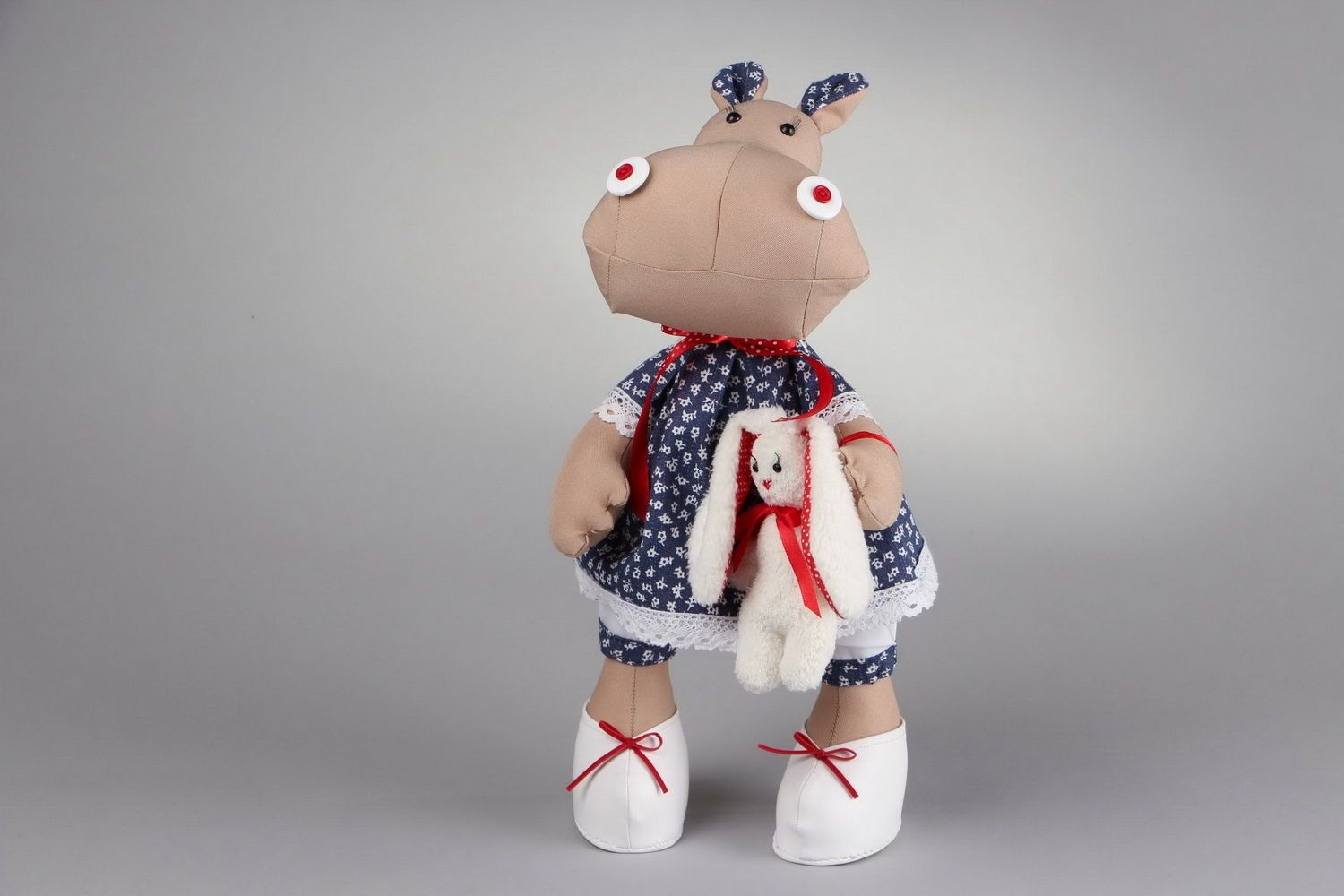 soft toys Toy Hippo girl - MADEheart.com