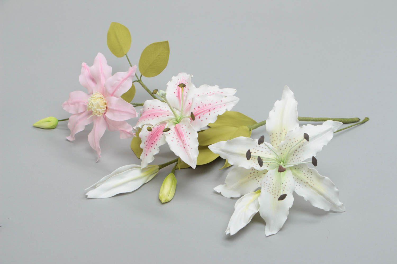 твёрдая картинки из фоамирана букет лилий фиолетовые избавиться надоедливого растения