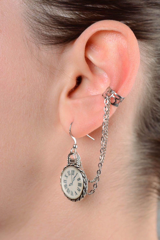 Cuff earrings Clock photo 3