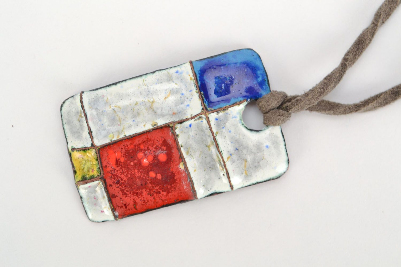 Handmade pendant Mondrian photo 3