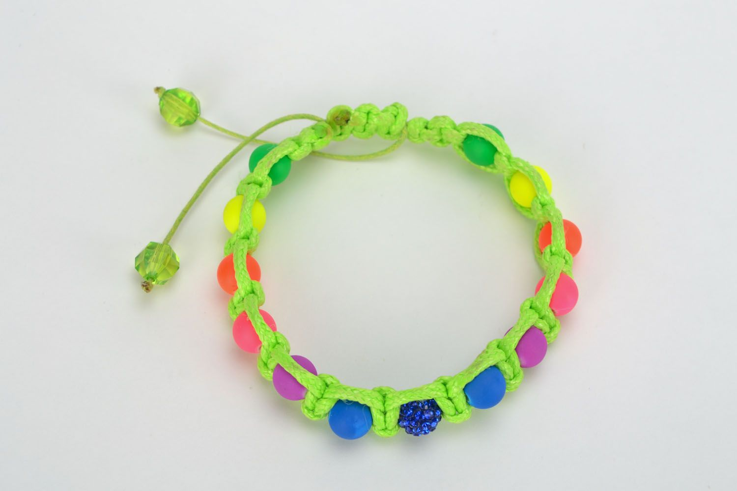 Bracelet woven of colorful beads photo 3