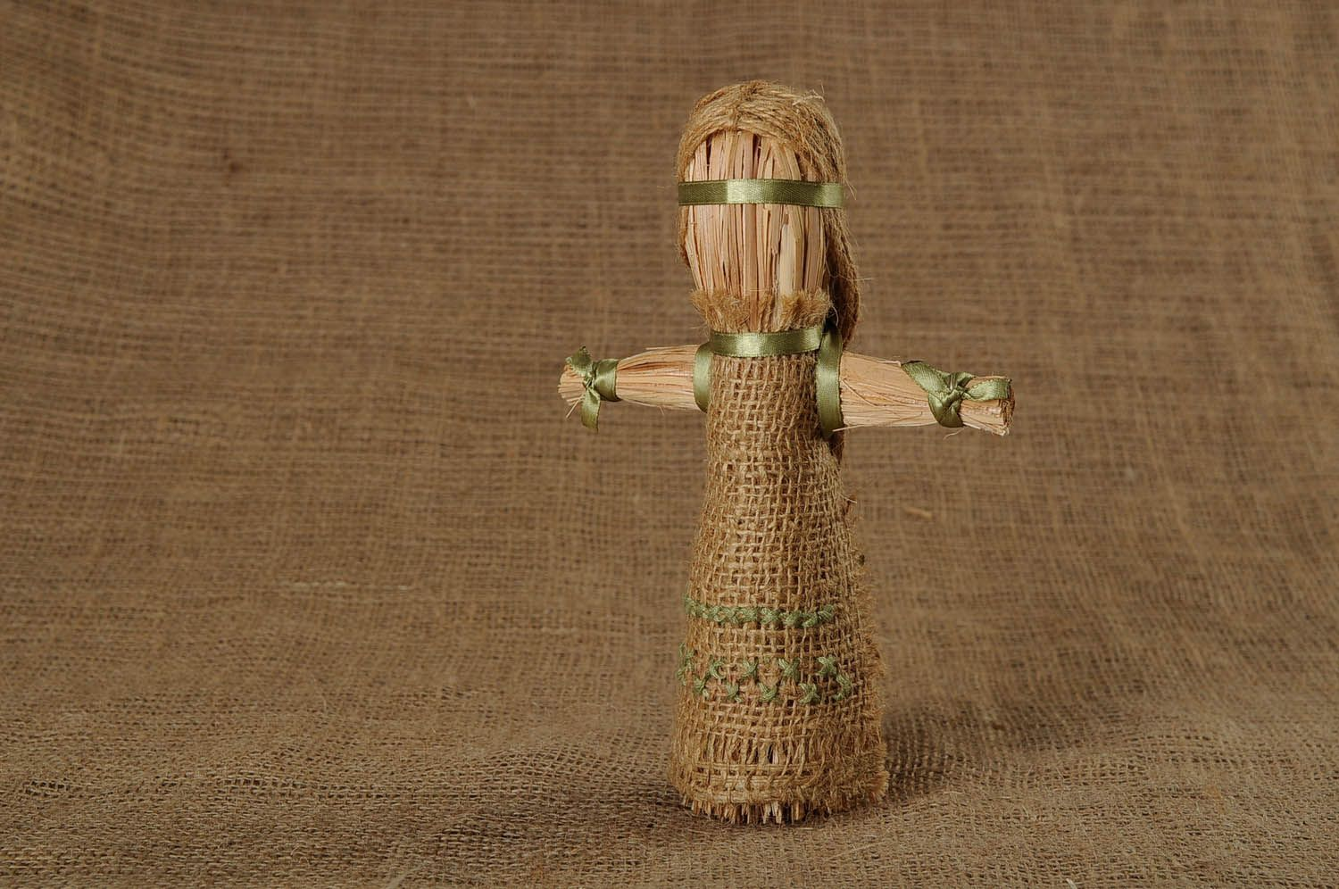 Amulet doll made of linen cord photo 1