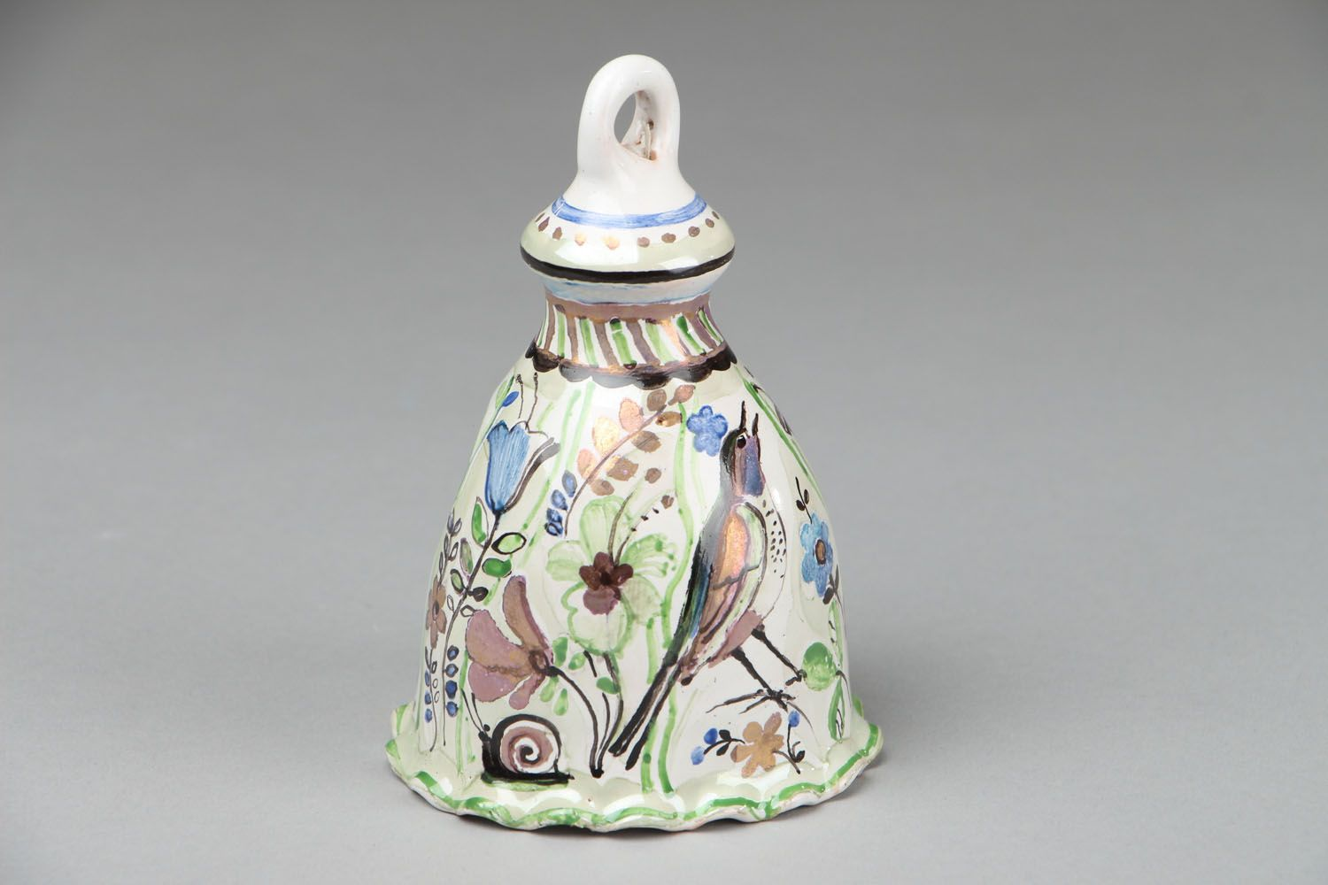 Unusual clay bell photo 2