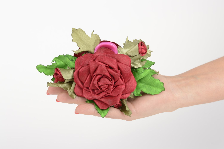Handmade designer accessory elegant flower hair clip feminine cute hair clip photo 5