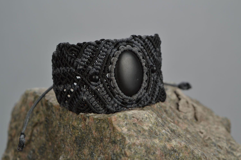 Woven bracelet with shungite photo 1