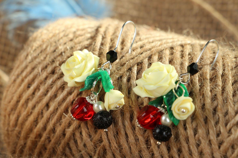 Homemade polymer clay earrings photo 4