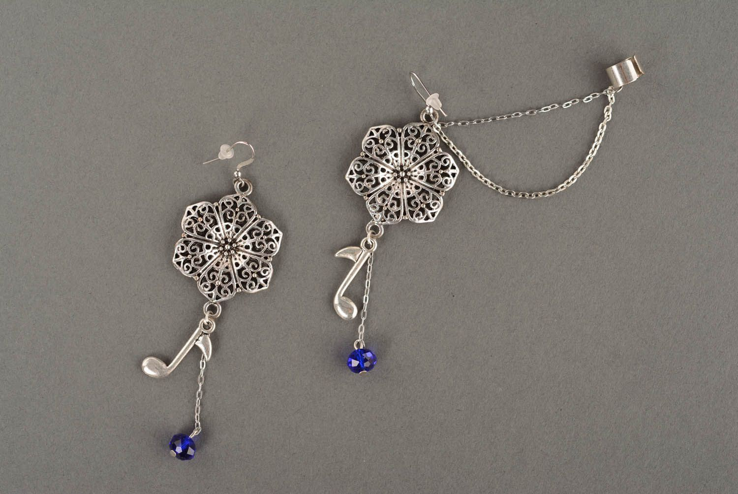 Long cuff earrings Floral Melody photo 2