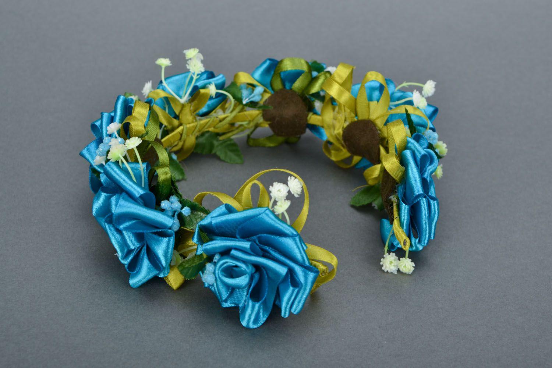 Homemade head wreath Sea Rose photo 5
