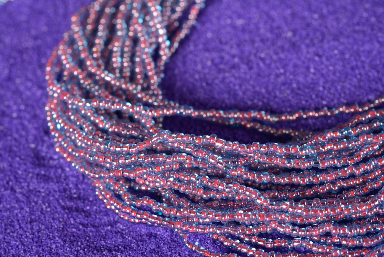 Колье из бисера украшение ручной работы многорядное ожерелье из бисера фото 1