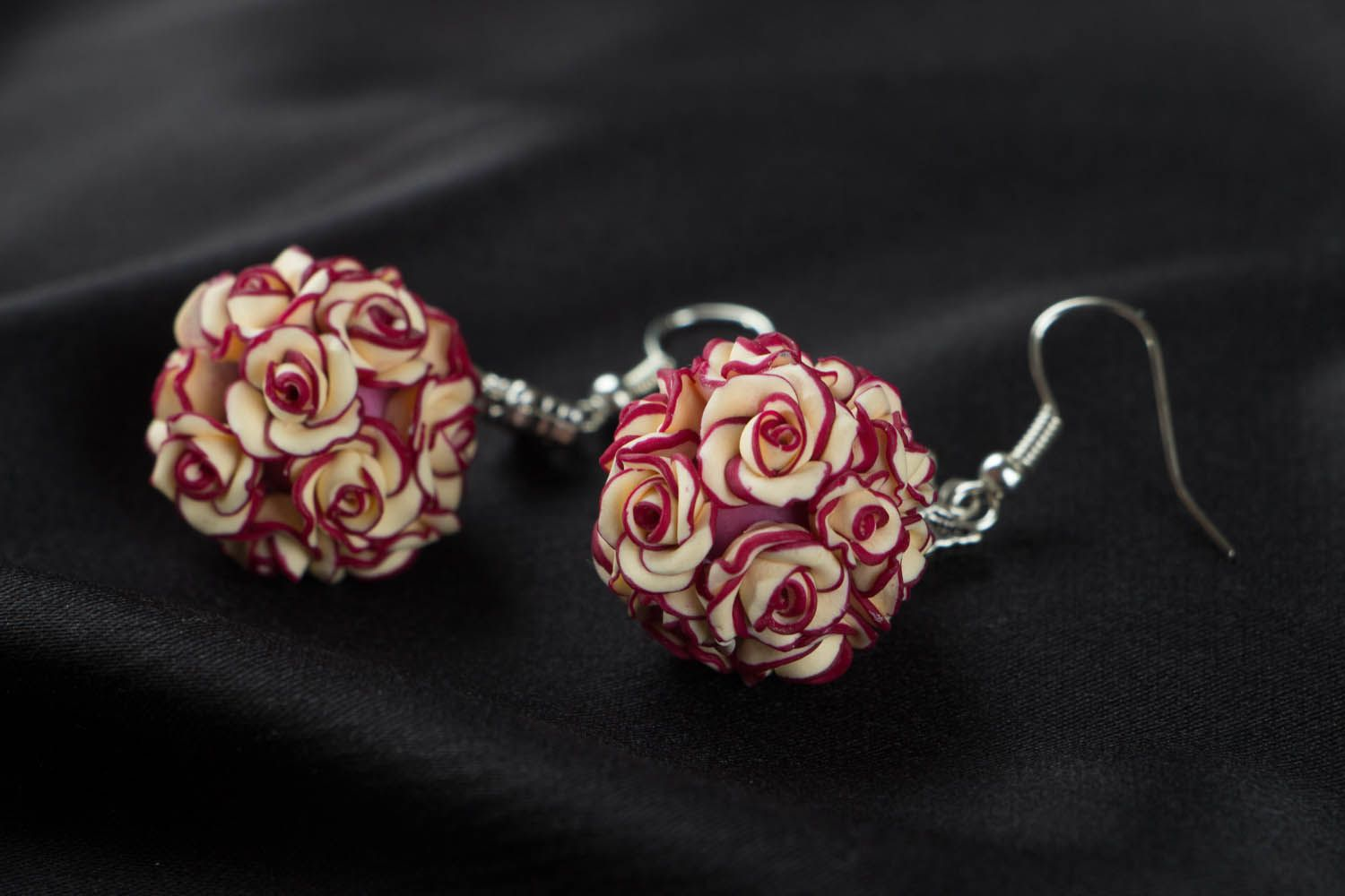 Earrings with rose charms  photo 2