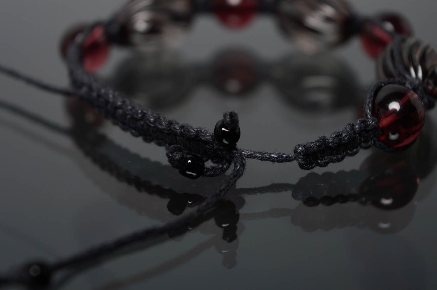 Woven bracelet with beads photo 5