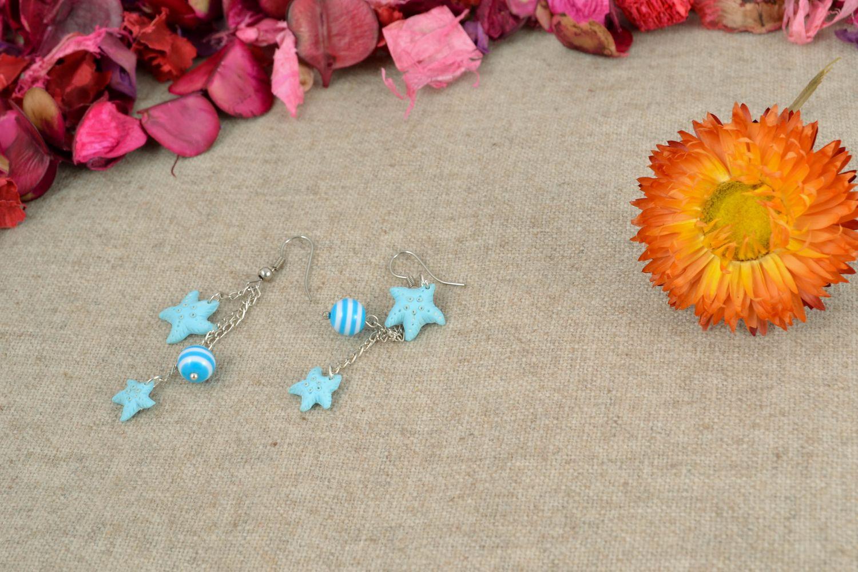Handmade polymer clay earrings photo 1