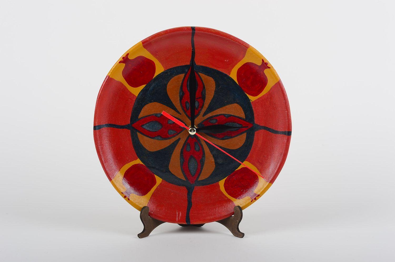 Madeheart Handmade Painted Ceramic Clock Clay Wall Clock Interior