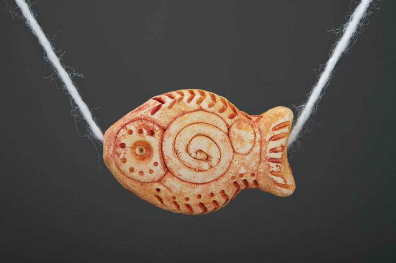 Ceramic pendant Fish photo 2