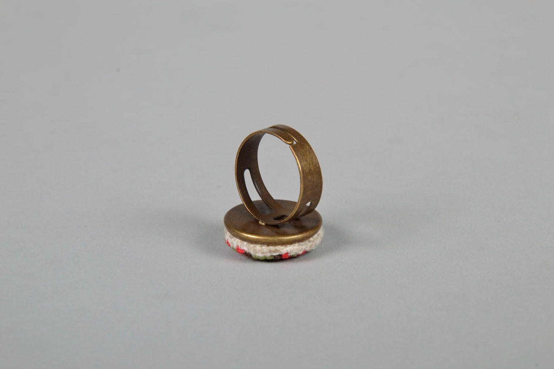 Handmade round seal ring photo 4