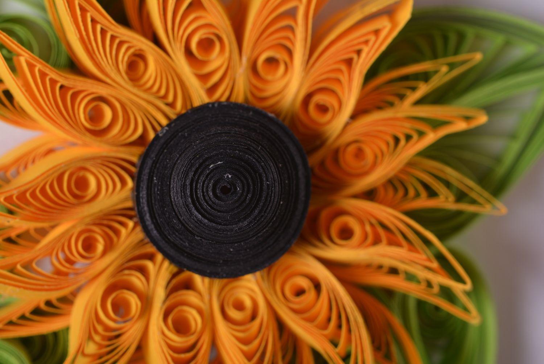 Handmade designer cardboard stylish invitation card unusual flower decor photo 2