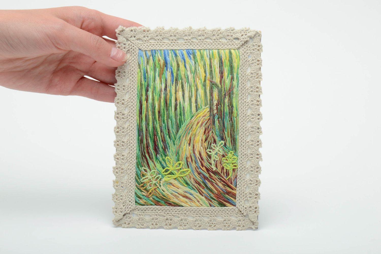 Satin stitch embroidered fridge magnet-picture photo 5