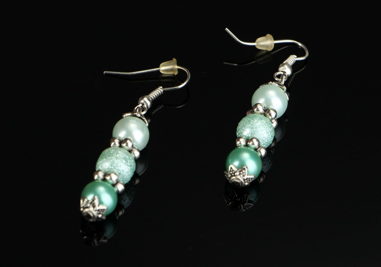 Earrings with pearls photo 4