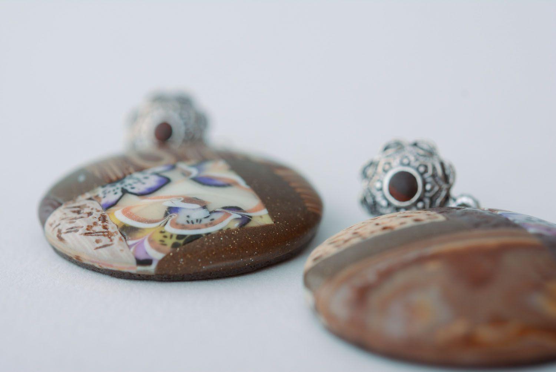 Homemade round earrings photo 4