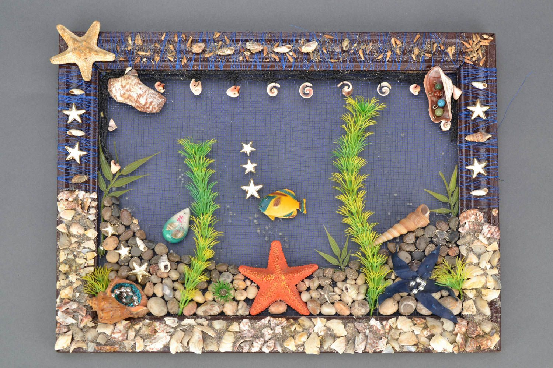 Madeheart cuadro de piedras naturales el fondo del mar - Cuadros hechos con piedras de playa ...