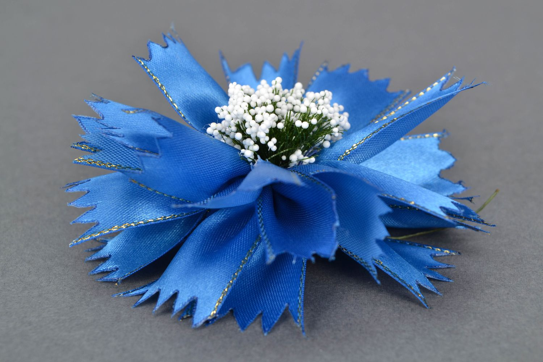Kanzashi flowers Cornflowers photo 4