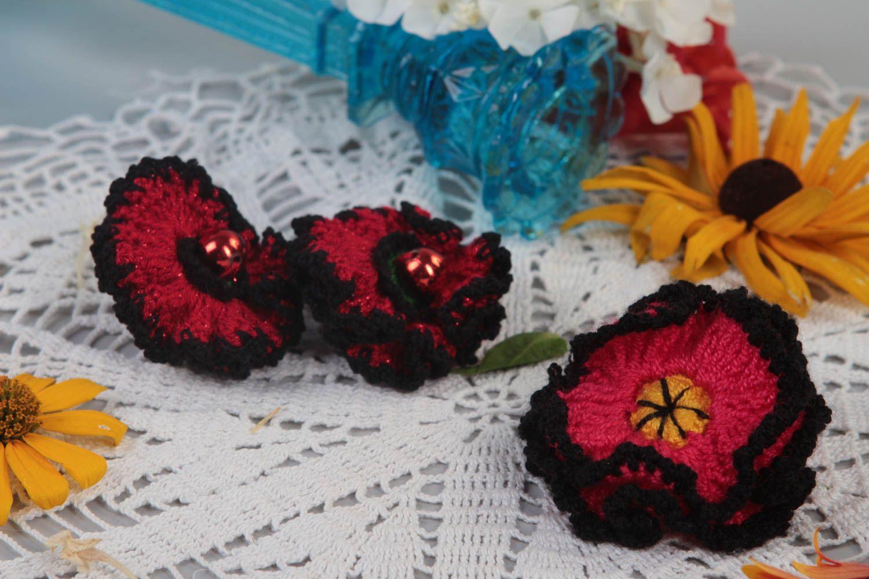 Handmade hair ties for kids 3 cute hair ties stylish children accessories photo 1