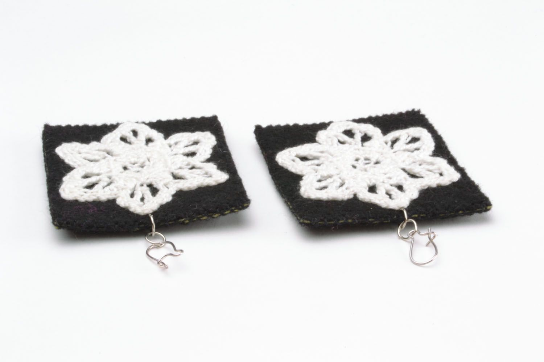 Fabric earrings photo 3