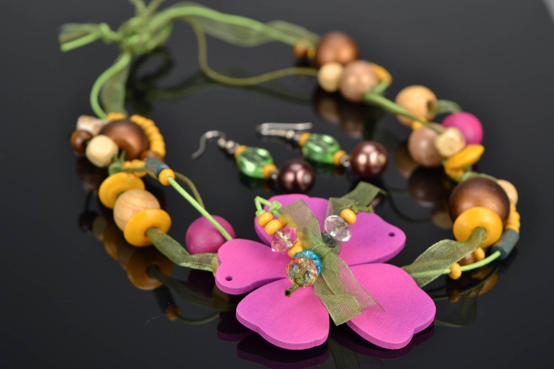 Homemade jewelry set Spring photo 1