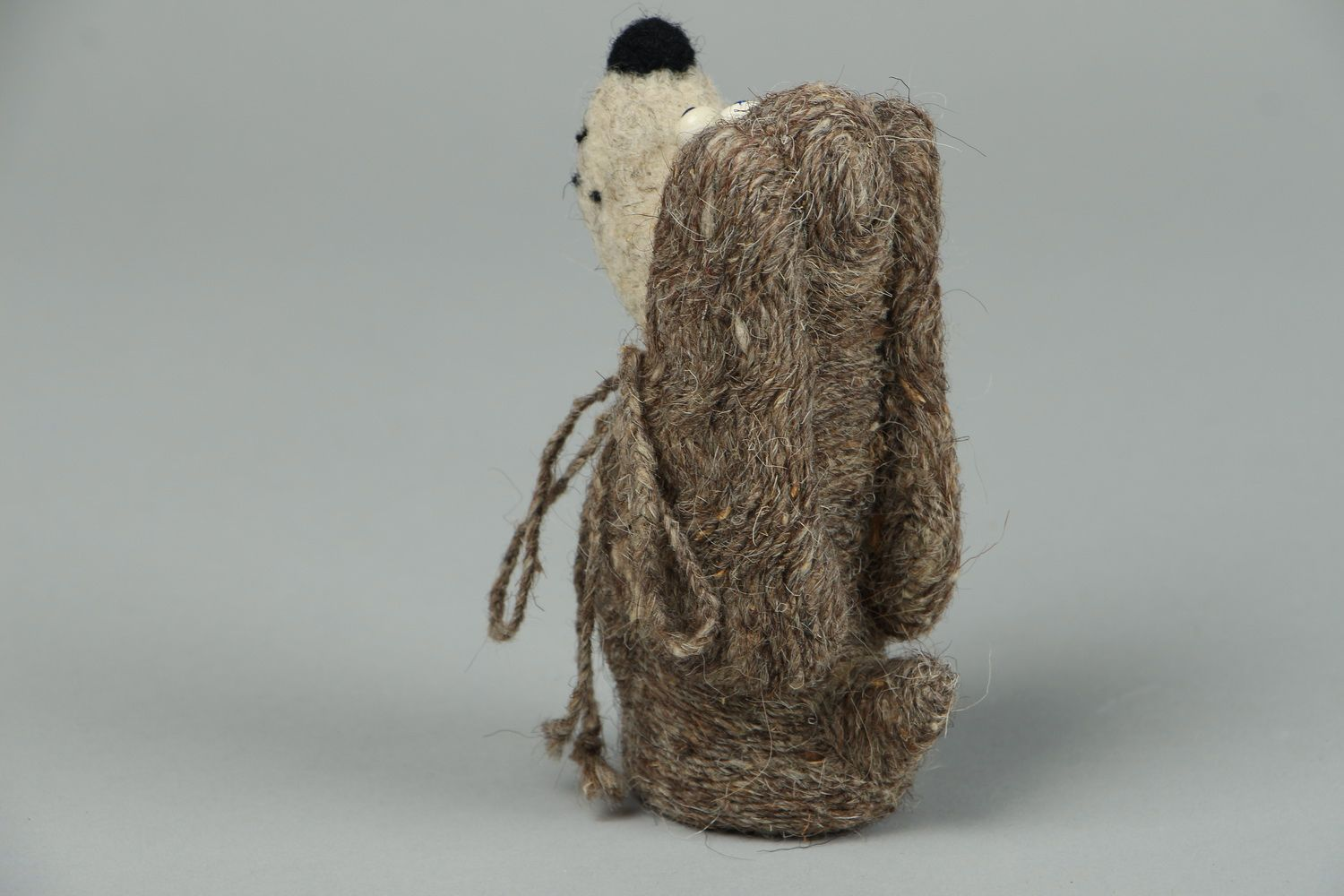Toy made of felted wool Lady photo 3