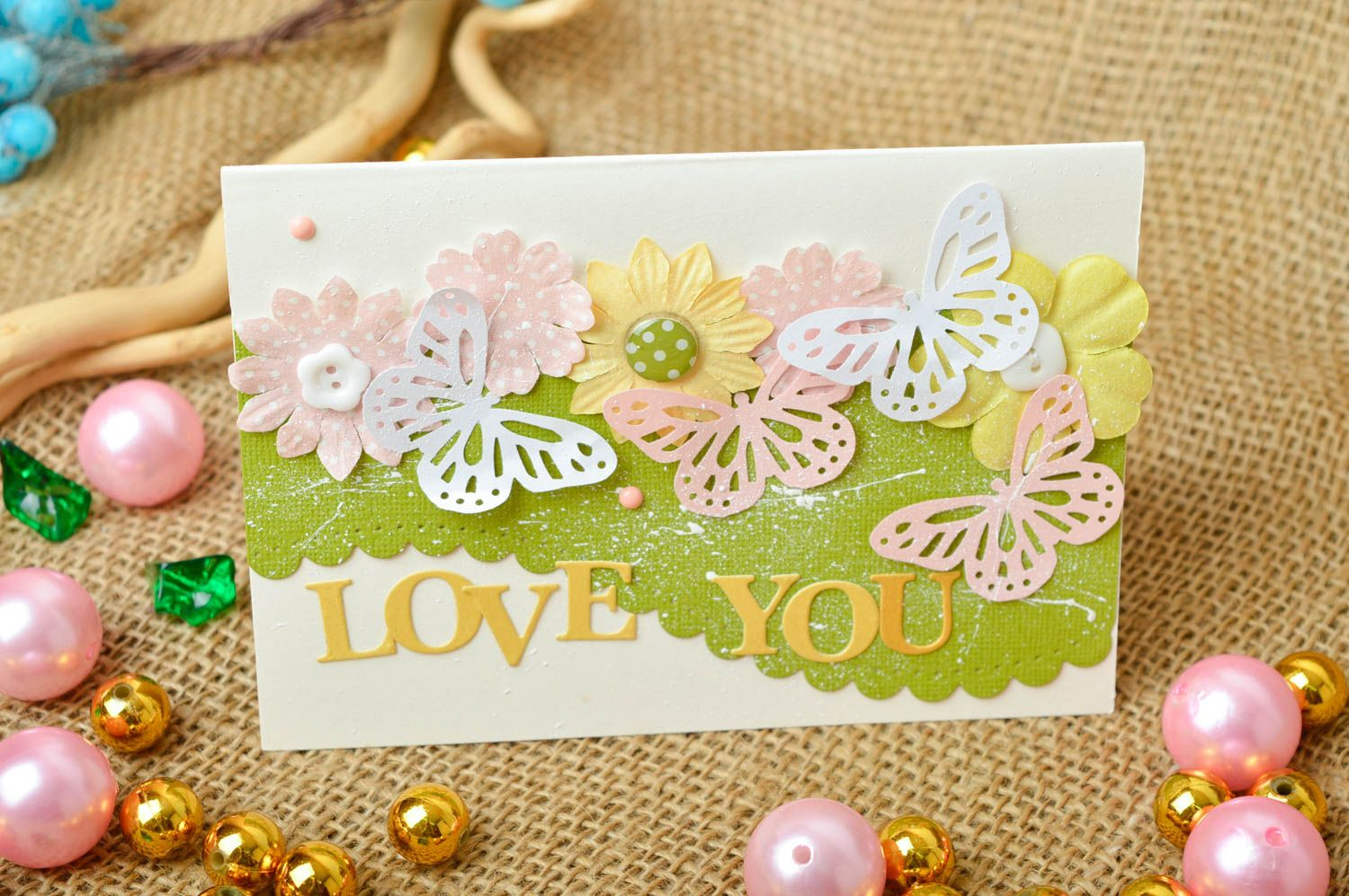 Homemade postcard greeting card love you card souvenir ideas cool gifts photo 1