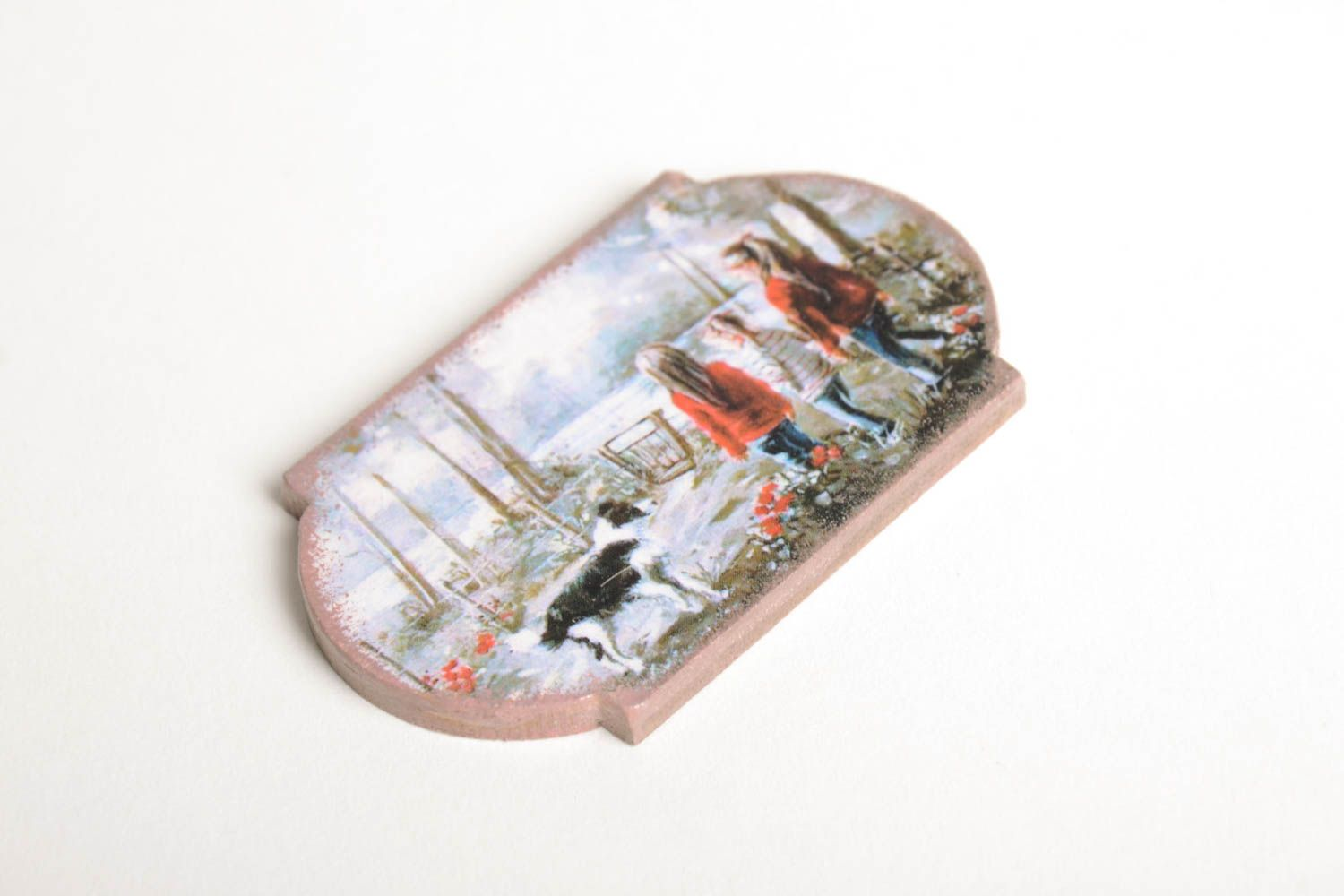 Unusual handmade magnet kitchen supplies decoupage ideas decorative use only photo 5
