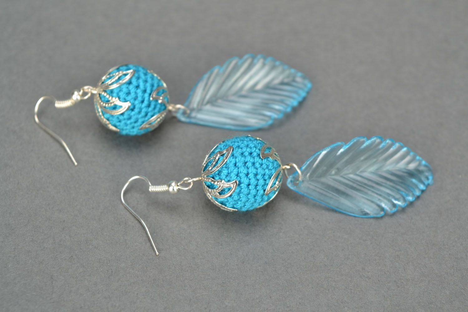 Blue earrings photo 1