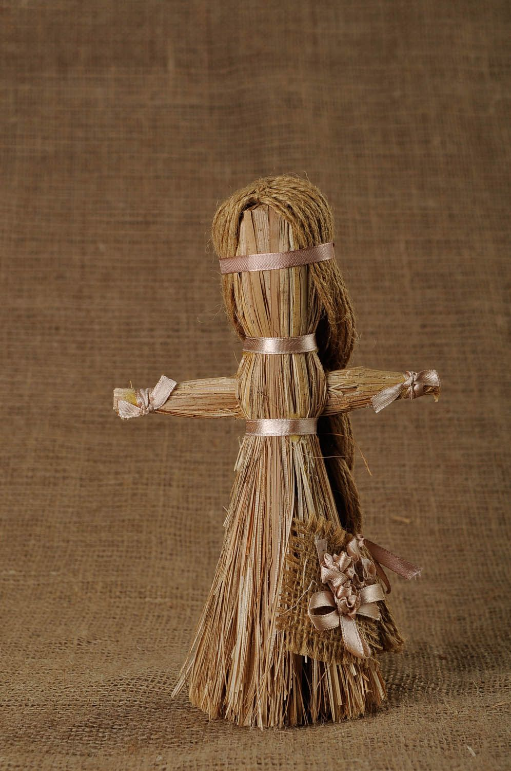 Amulet doll made of cattail photo 1