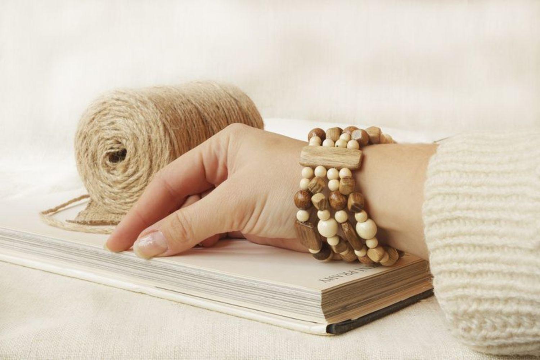 Wooden multi-row bracelet photo 4